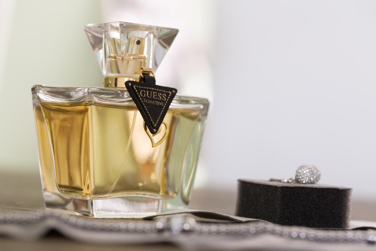 Parfum fles, Detail foto, Bruiloft, Trouwdag