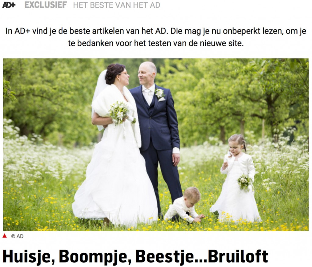 Publicatie FischerFotografie in het Algemeen Dagblad