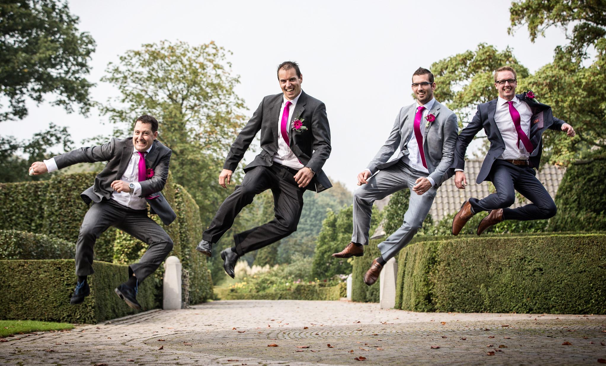 Groepsfoto bruiloft.