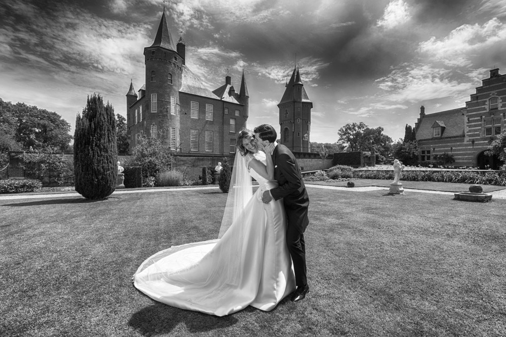 Bruiloft foto Kasteel Heeswijk in Noord Brabant