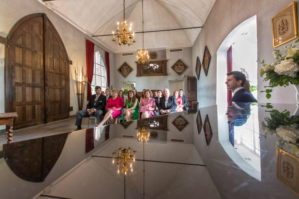 Bruiloft foto, Kasteel Heeswijk, Ridderzaal.