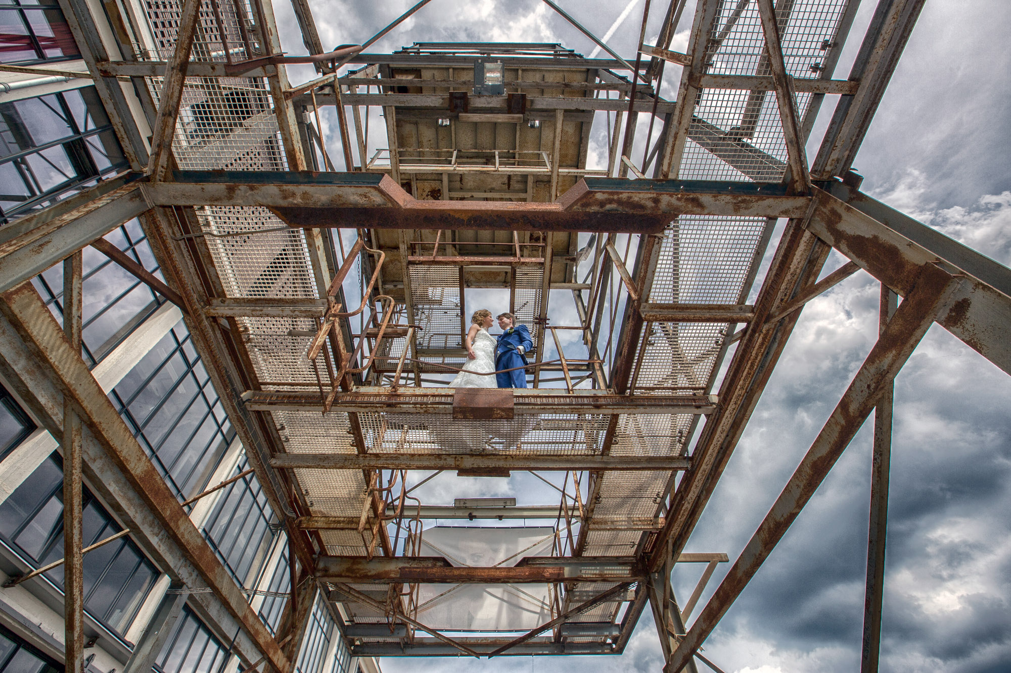Industriële fotoshoot locatie