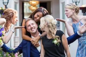 Groepsfoto bruiloft, Kasteel Henkenshage, Sint- Oedenrode, Noord Brabant