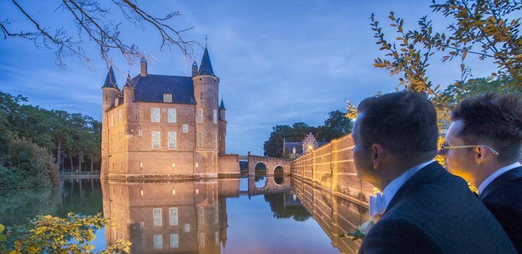 Trouwfoto Kasteel Heeswijk Dinter.