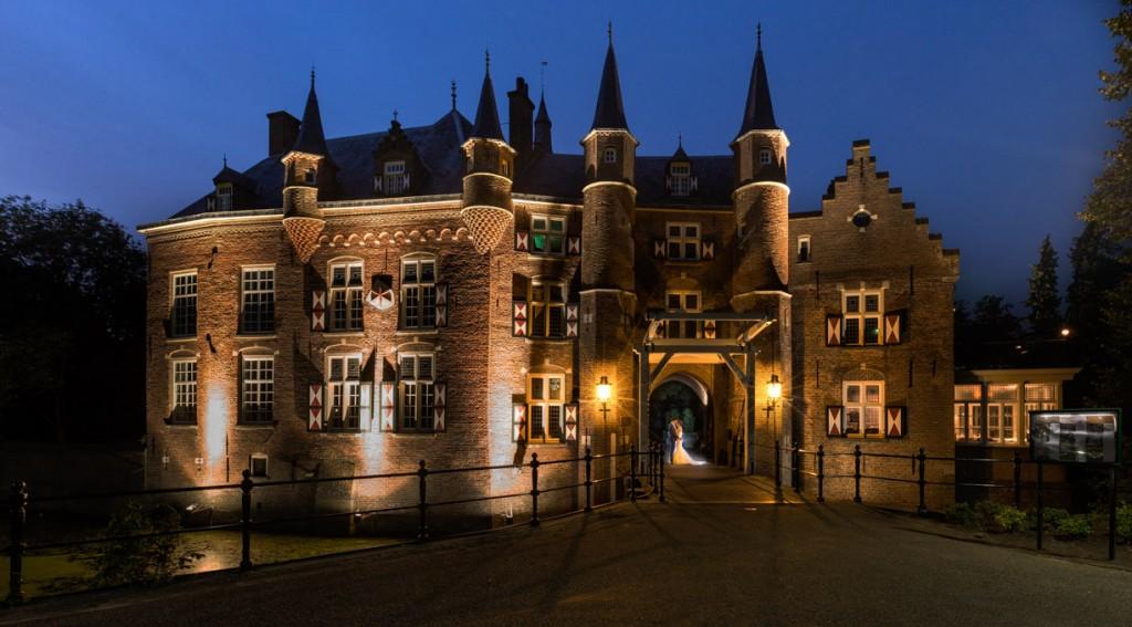 Bruidsfotograaf kasteel Maurick. Bruiloft reportages gemeente Vught.