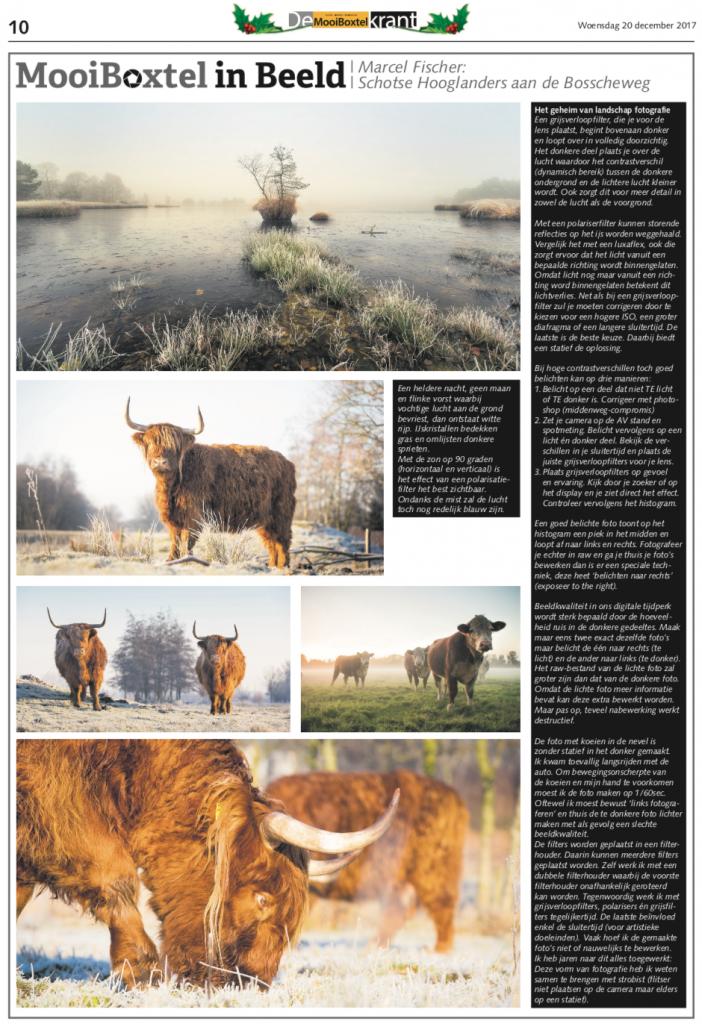 Colums FischerFotografie in de krant.