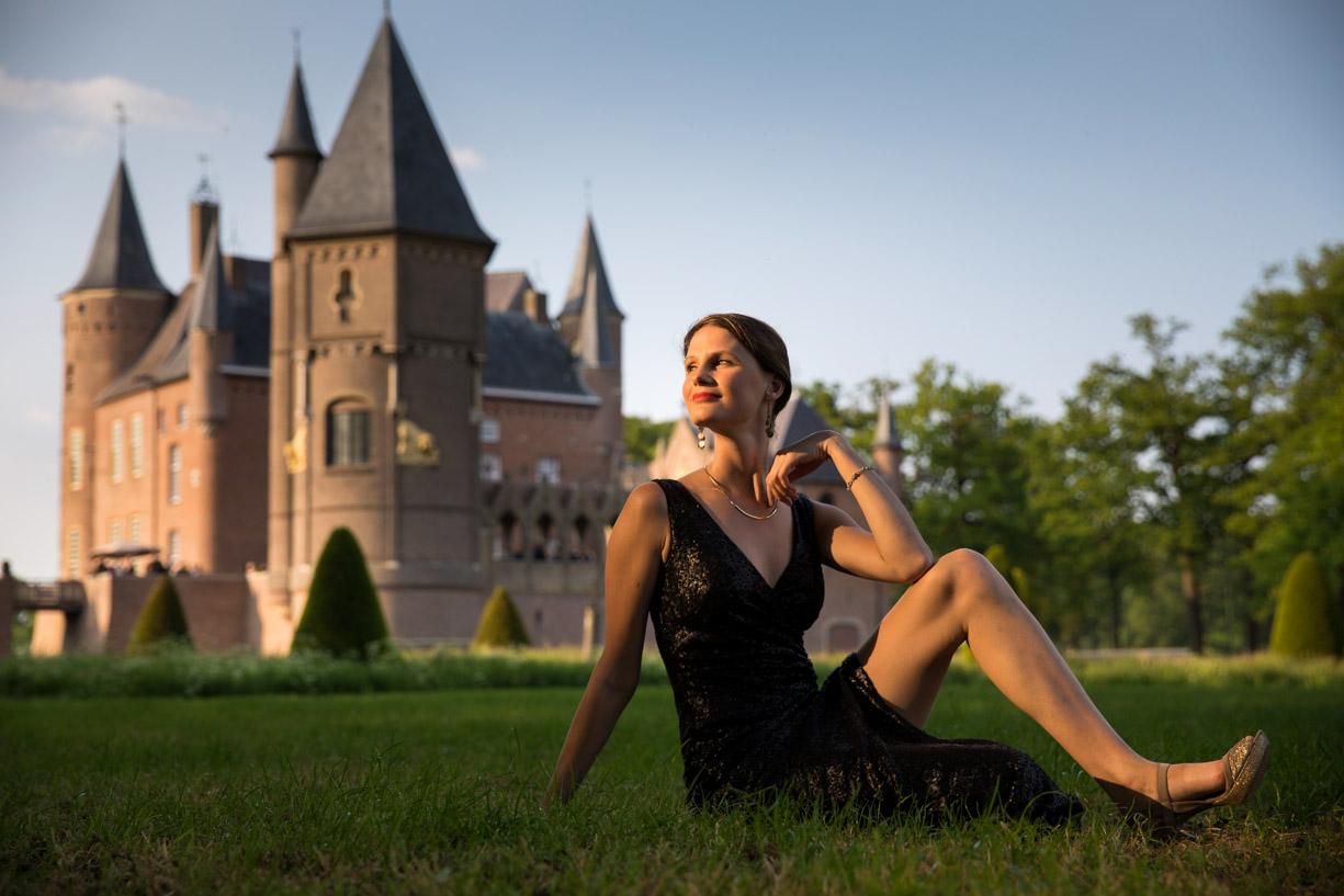 Romantische trouwfoto Kasteel Heeswijk.
