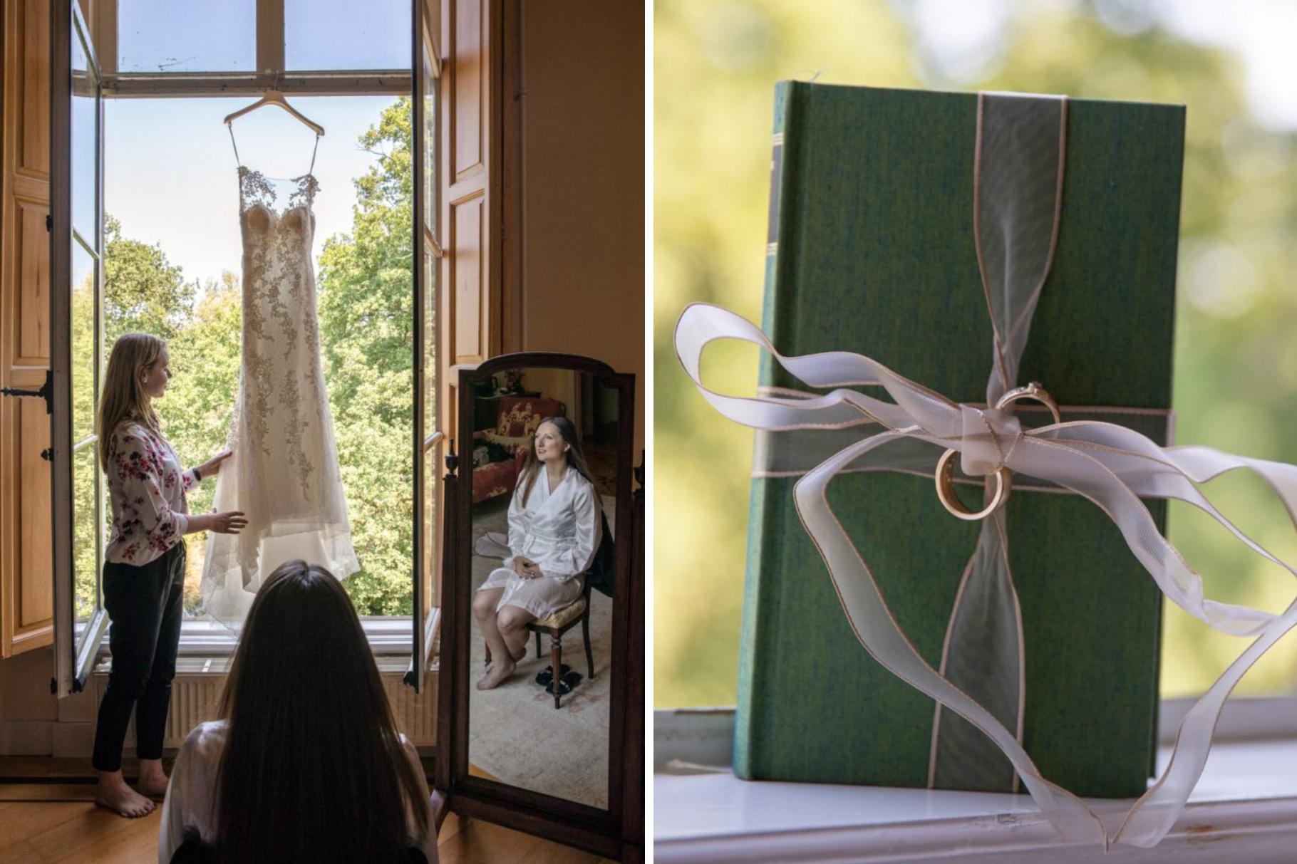 Visagie trouwfoto van de bruid.
