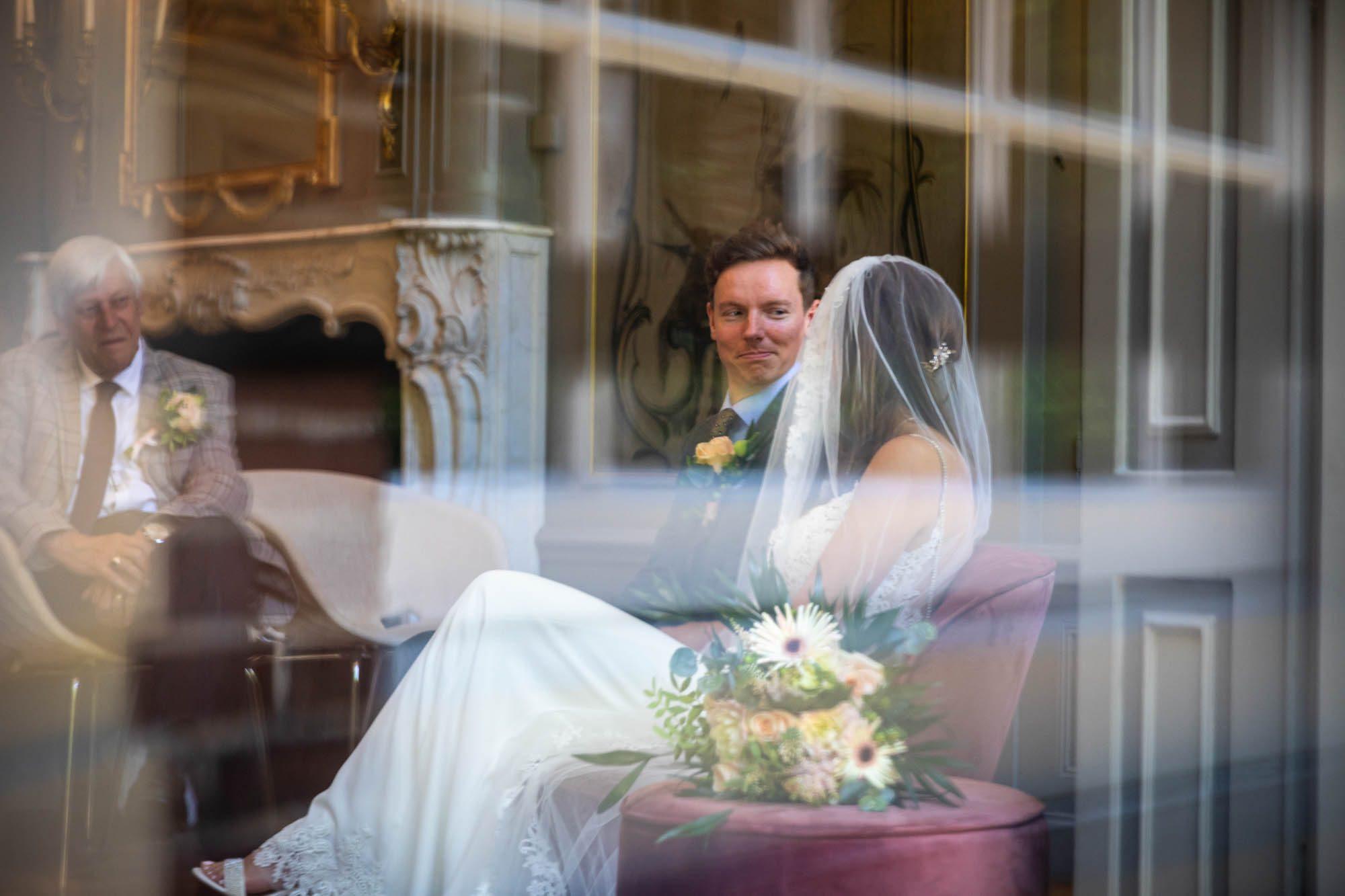 Ceremonie bruiloft Buitenplaats Sparrendaal.