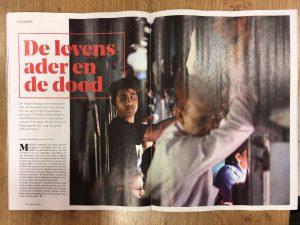 Publicatie Fischerfotografie weekblad de Nieuwe Revu.