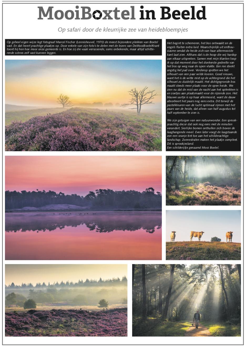 Publicatie FischerFotografie over de mooie natuur in Noord Brabant.
