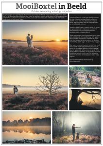 Publicatie Fischerfotografie over een after wedding fotoshoot buiten in de natuur.